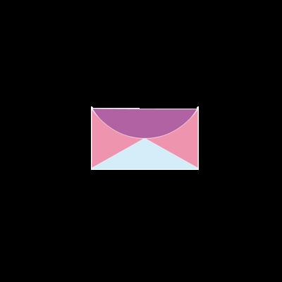 パープル、スカイブルー、ピンク。