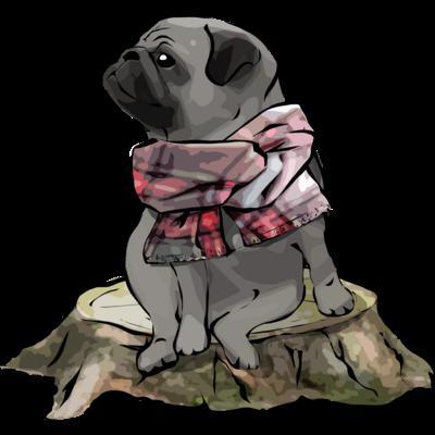 マフラー犬