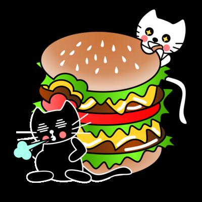 たまとクロとハンバーガー
