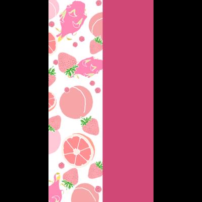 ピンクのフルーツ