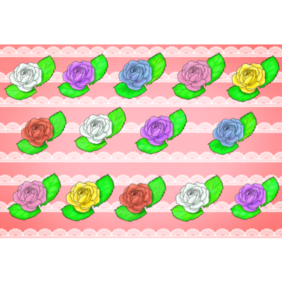 華やか薔薇