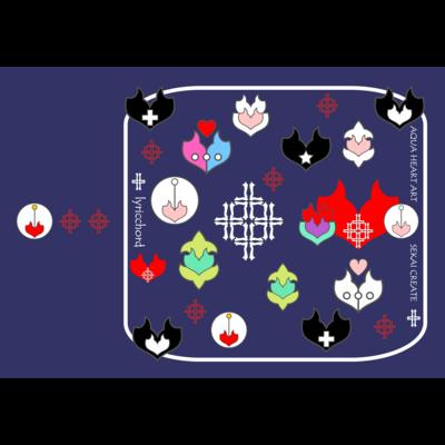 lyricchord design/エンブレムスマホケース(ネイビー)
