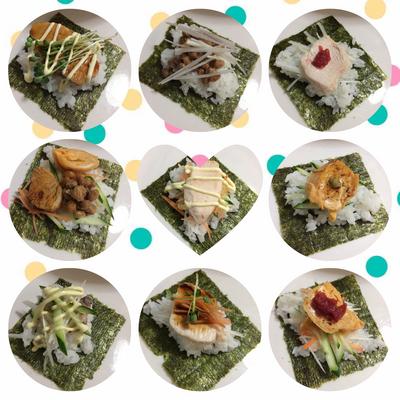 浮かれミニ手巻き寿司