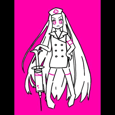 【PNK】ワクチン祈願アマビエサマ PINKナース