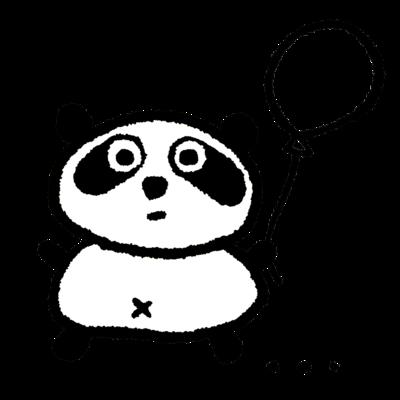 風船パンダ