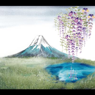 富士山と藤
