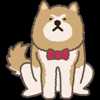 あっあっ秋田犬(ネクタイ)