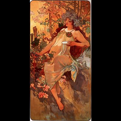 ミュシャ(Alfons Maria Mucha) / 秋(Autumn)1896