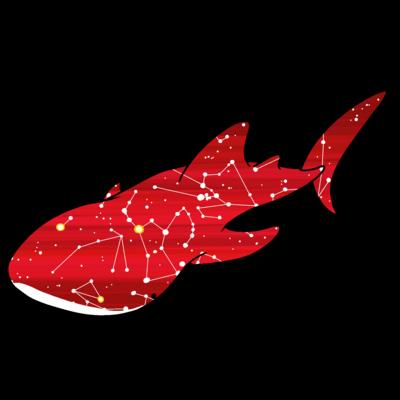 ジンベエザメ 冬の星座 赤