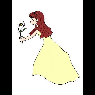 お花をキャッチ