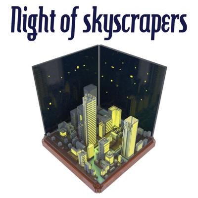 摩天楼の夜