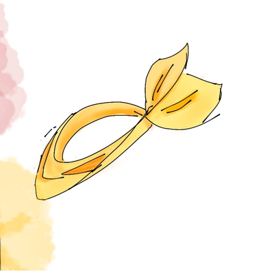 水彩と黄色のバンダナ(うさみみ)シリーズ