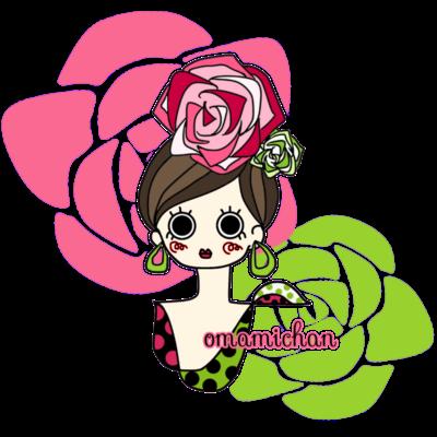 フラメンコガール(薔薇)