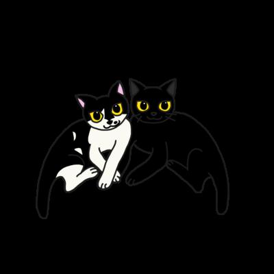 仲良しネコ