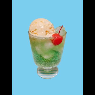 水色 手作りクリームソーダ 水色
