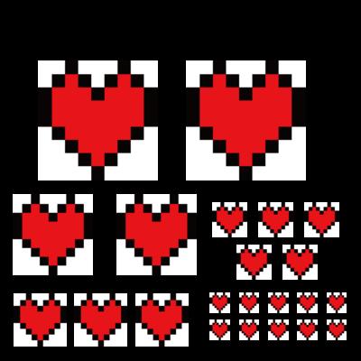 ゲームドット絵風のハートシリーズ