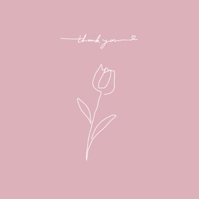 thank you(pink×white)