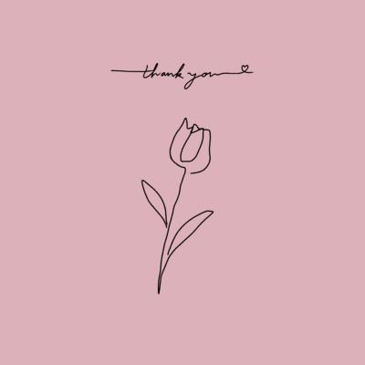 thank you(pink×black)