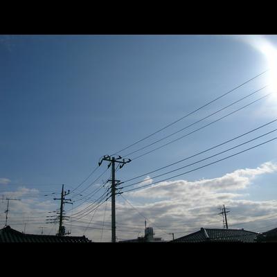 とある空と電線と