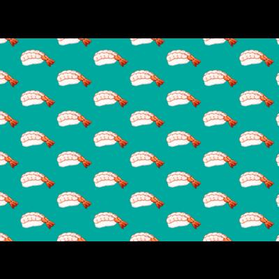 にくらしい甘エビのパターン 青緑