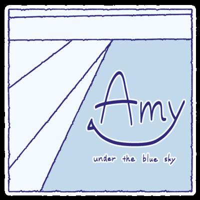 Amy under the blue sky