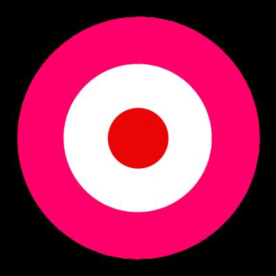 サークルa-ショッキングピンク