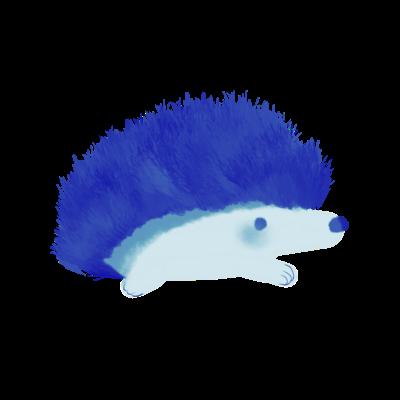 青色ハリネズミ