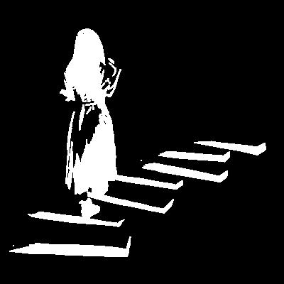 少女は歩く(ホワイト)