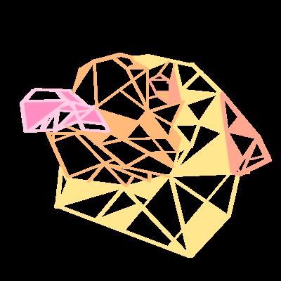 幾何学パグさん