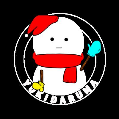 ハロー雪だるま(カラー)