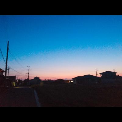 夕焼けが綺麗だったから