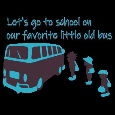スクールバスと少年たち