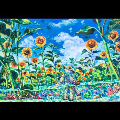 Sea of a sunflower ヒマワリの海