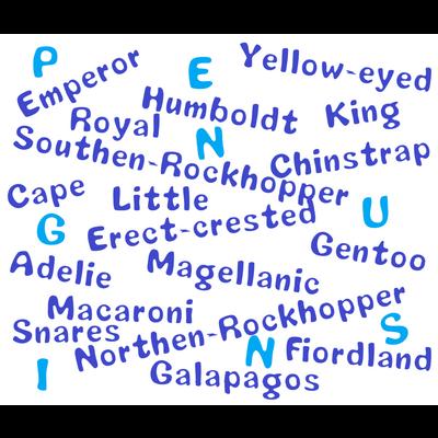 ペンギンの名前文字シリーズ