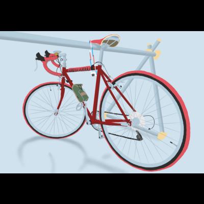 赤いロードバイク