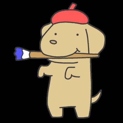 お絵描き犬