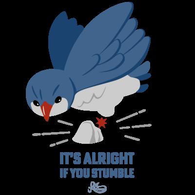 つまずきの青い鳥