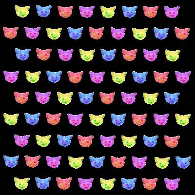 4色のチェシャ猫