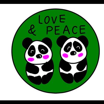 双子パンダ誕生記念(緑)