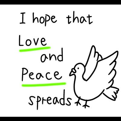 愛と平和(黄緑)