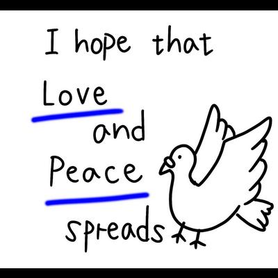 愛と平和(青)