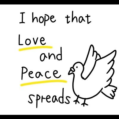 愛と平和(黄色)