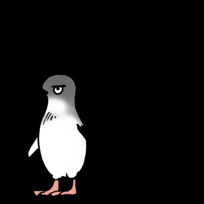 ペンギン 文字あり