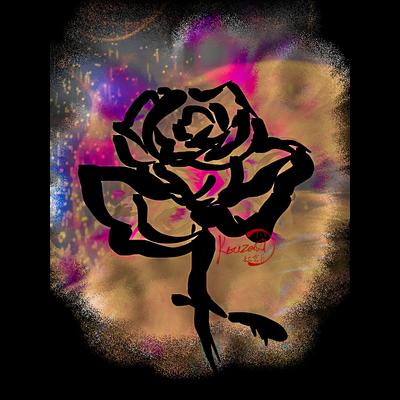 和筆薔薇_color