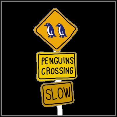 ペンギン横断注意!