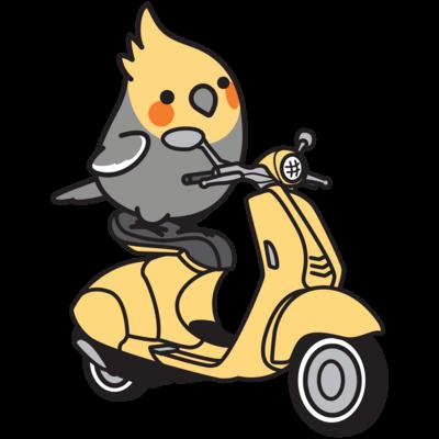 Chubby Bird バイクに乗ったオカメインコ