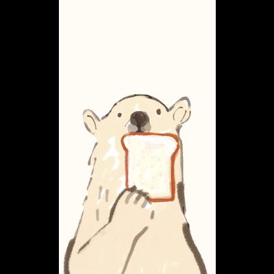 食パンとクマ