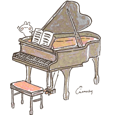 ピアノとうさぎ