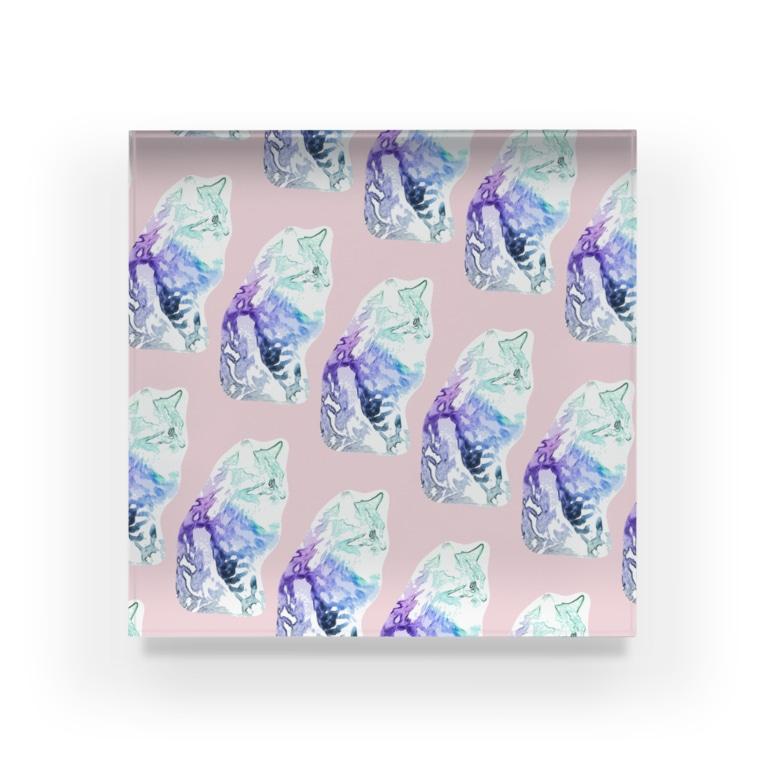 pinkcatのおすましcat♡ Acrylic Block