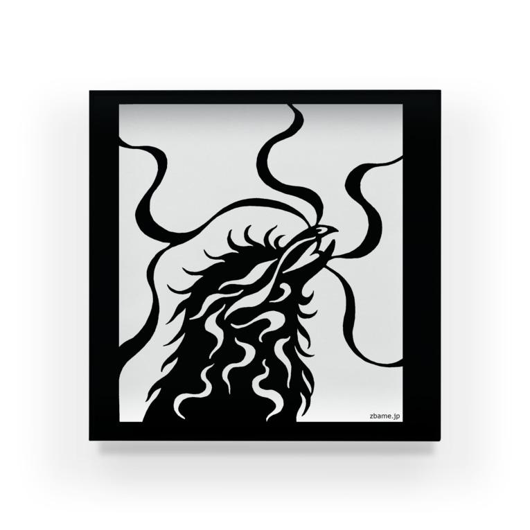 ツバメ堂のカラス(モノクロ) Acrylic Block